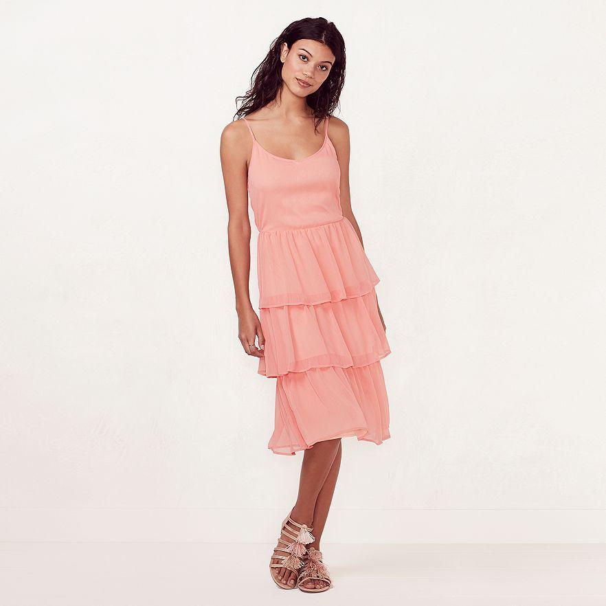 LC Lauren Conrad Tiered Shift Dress | Kohl\'s | Summer Style ...