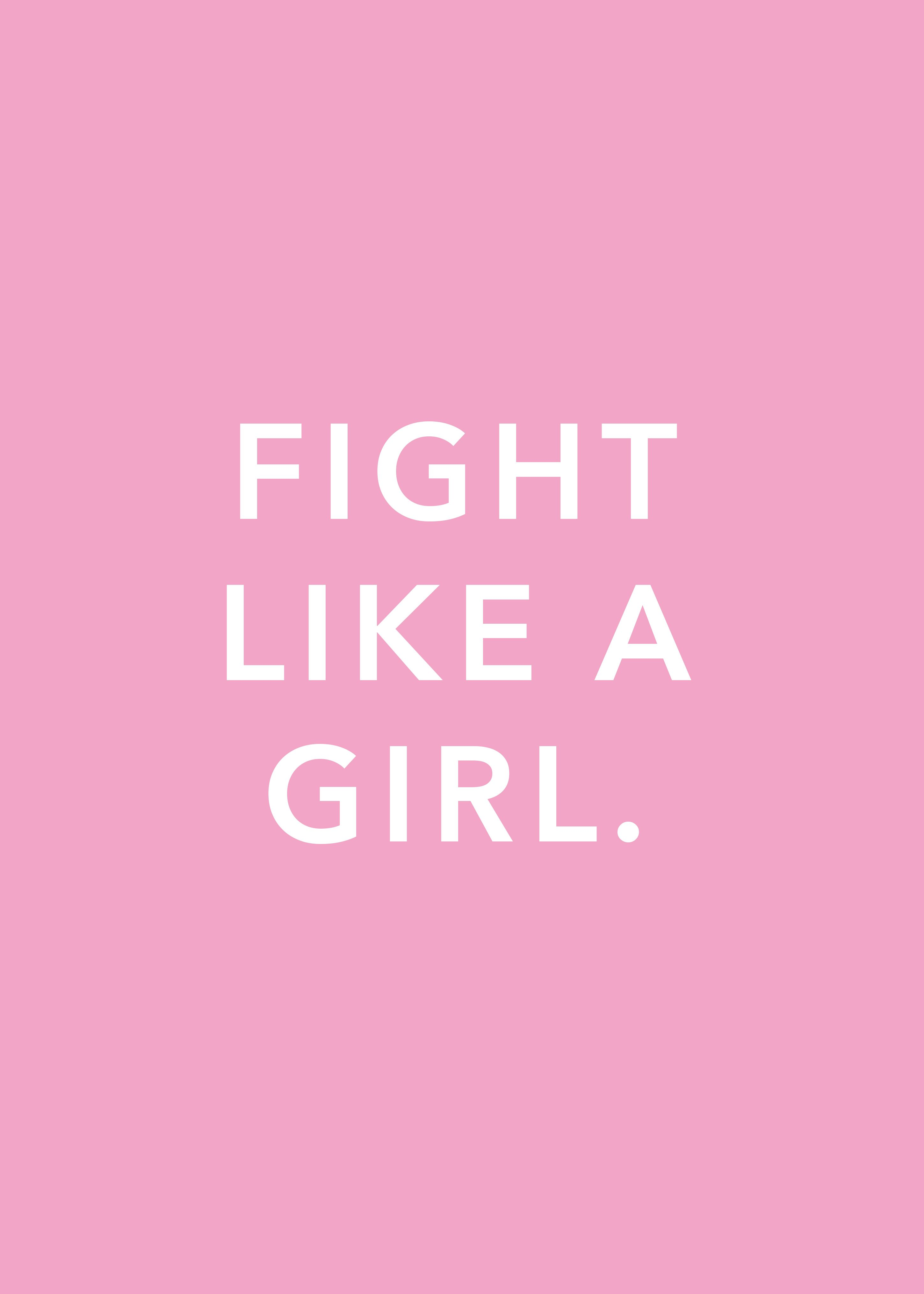 'Fight Like A Girl' Poster Print by Weltenraser  | Displate