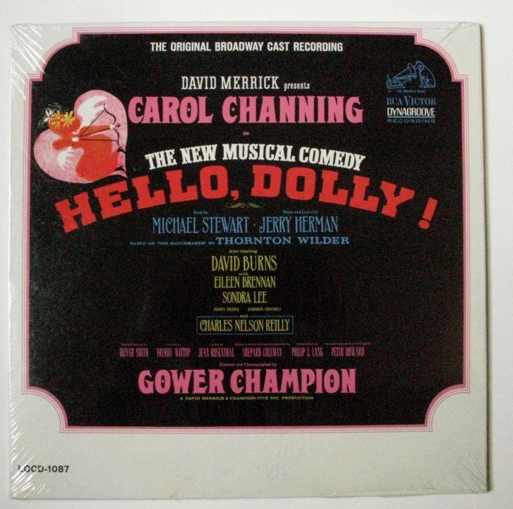 Hello, Dolly Original Broadway Cast Recording LP Carol Channing SEALED