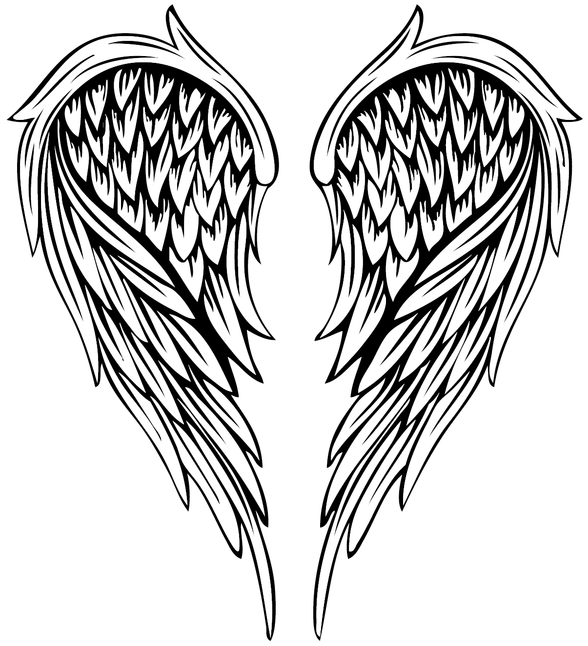Freetoedit Angel Angelwings Wings Wing Tattoos Tattoo Remixit Tattoo Coloring Book Angel Wings Tattoo Angel Wings Drawing