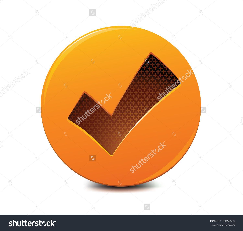 Check Mark Icon Stock Vector Illustration 163456538 : Shutterstock