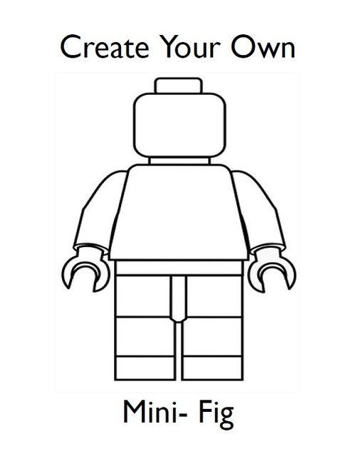 Draw Your Own Lego Minifigures Lego Games Lego Party Lego Birthday Lego Printables