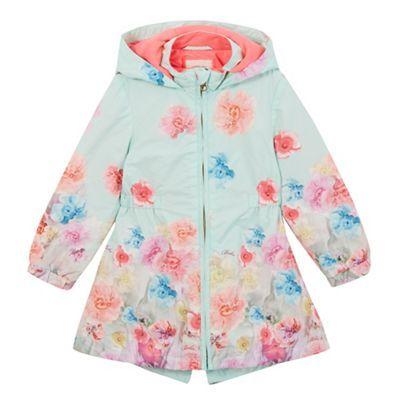16711024c9da Baker by Ted Baker Girls  light green floral mac coat-