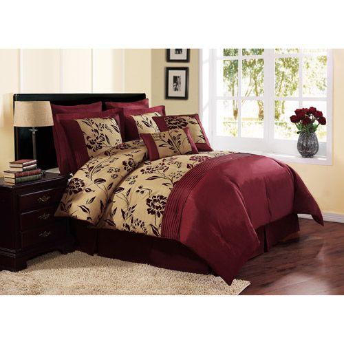 Home Burgundy Bedroom Comforter Sets Queen Comforter Sets