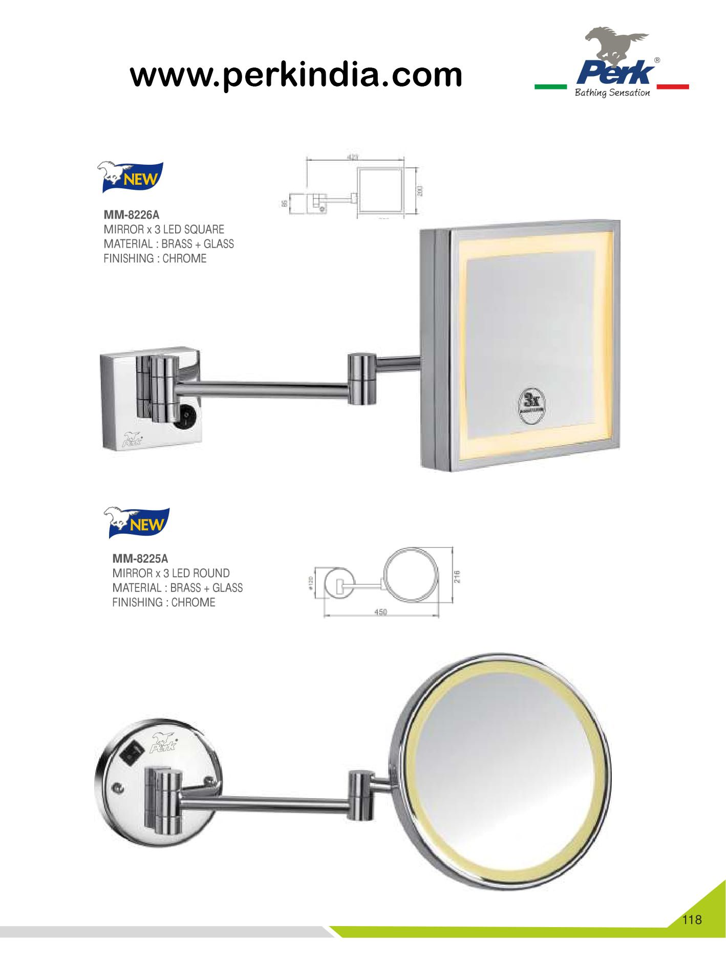 Perkindia Offers A Unique Designs Of Mirror For Your Luxury
