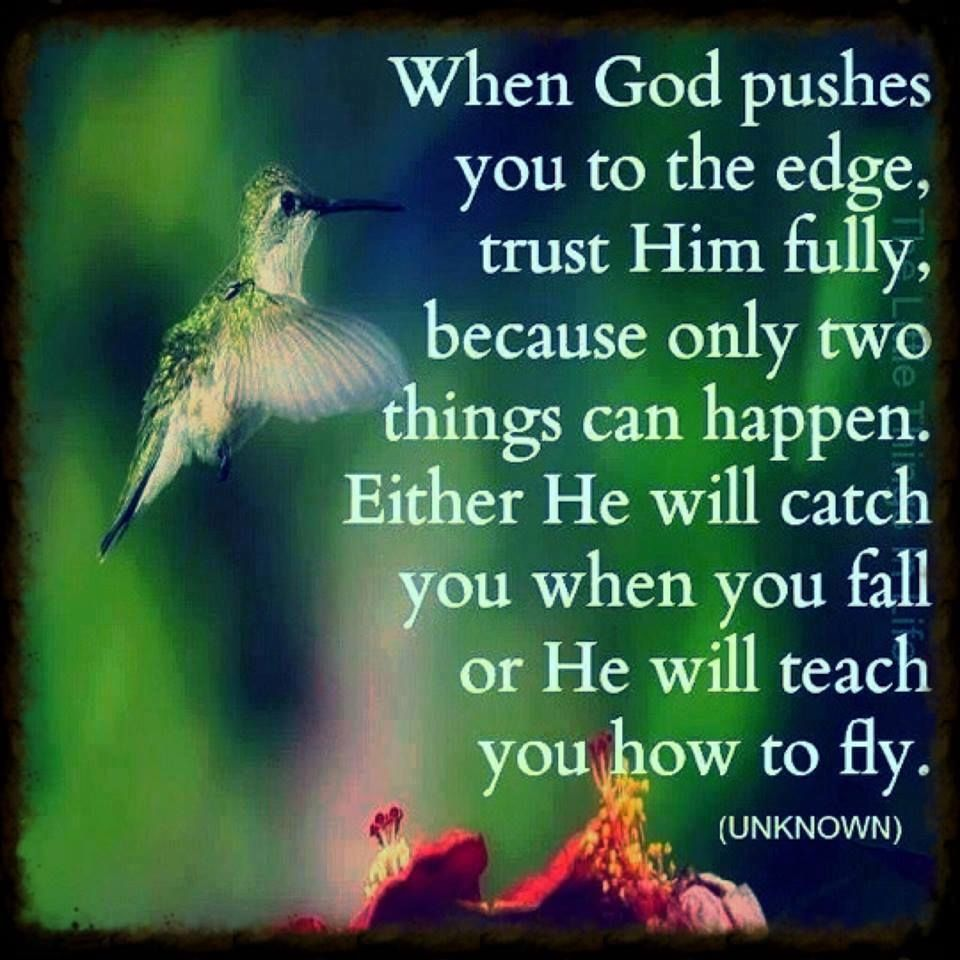 When God Pushes You To The Edge Life Quotes Quotes