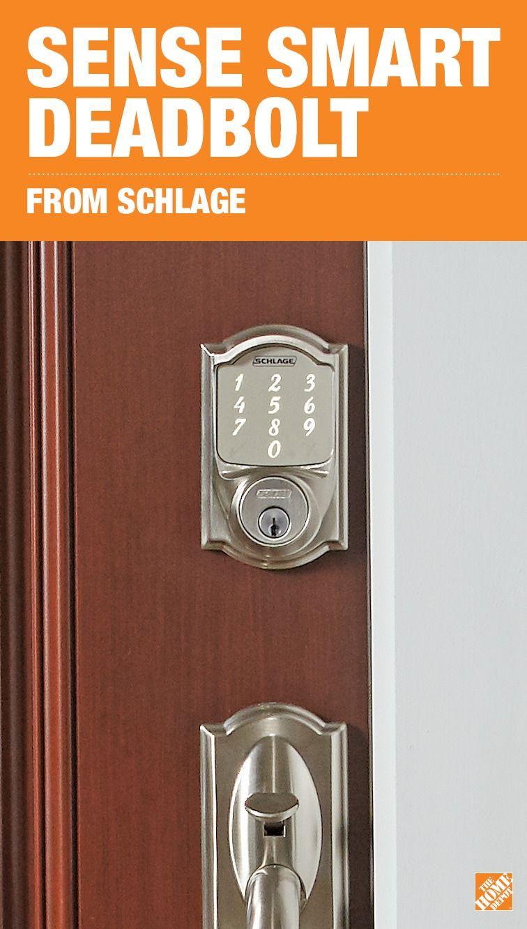 Schlage Camelot Satin Nickel Sense Smart Door Lock | Doors