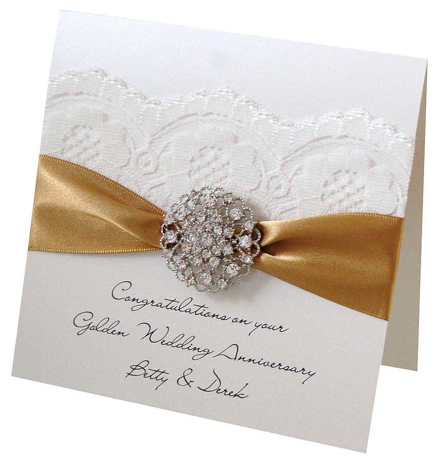 opulence wedding anniversary card golden wedding anniversary