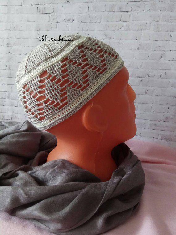 Pour Hommes Tricoté Bonnet Skull Cap Kufi Prière Calotte Crochet Topi Chapeau