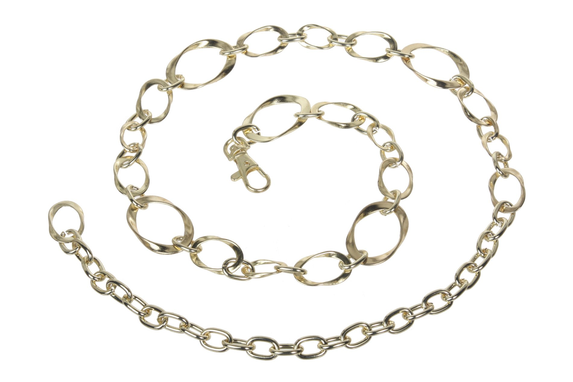 Ladies metal oval circle chain belt chain belts metals and products