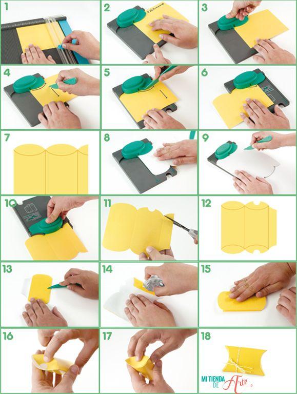 Pillow Box Punch Board Pasos