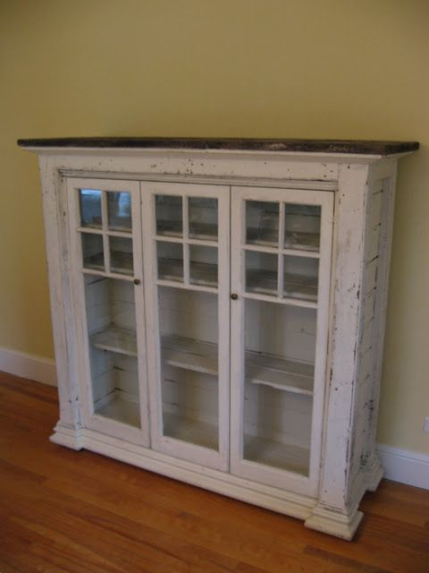 Window Pane Cabinet For The Dining Room