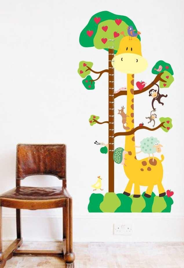 0b8b26a35 Adesivo de Parede - Regua de Crescimento Girafa