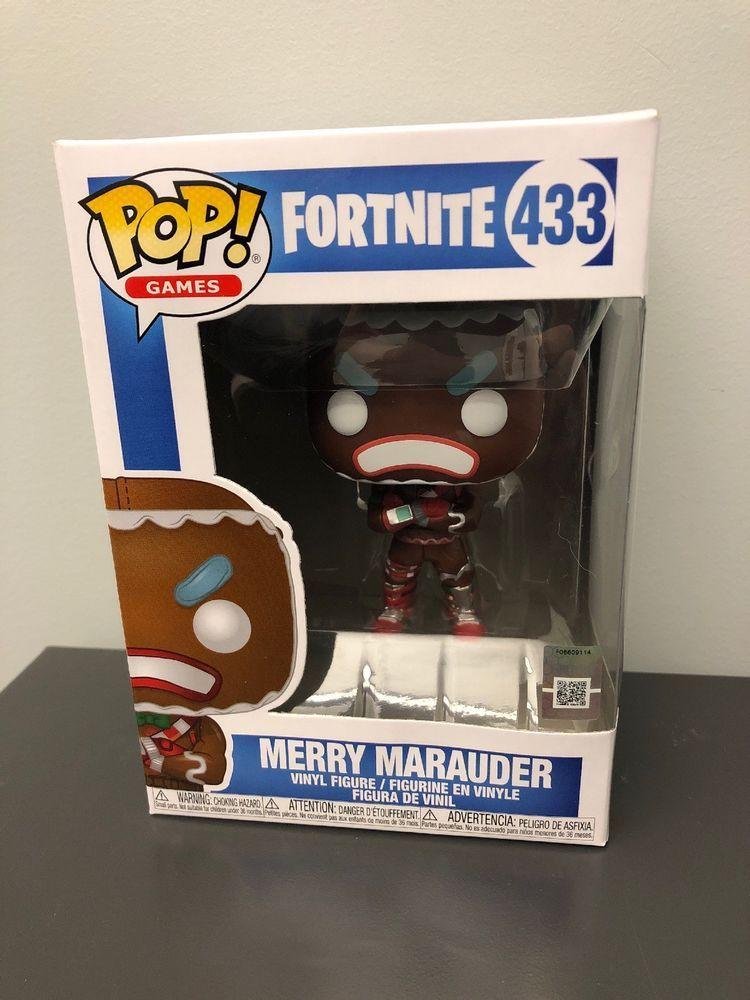 Funko Pop Merry Marauder Fortnite Epic Games 433 Gingerbread Man