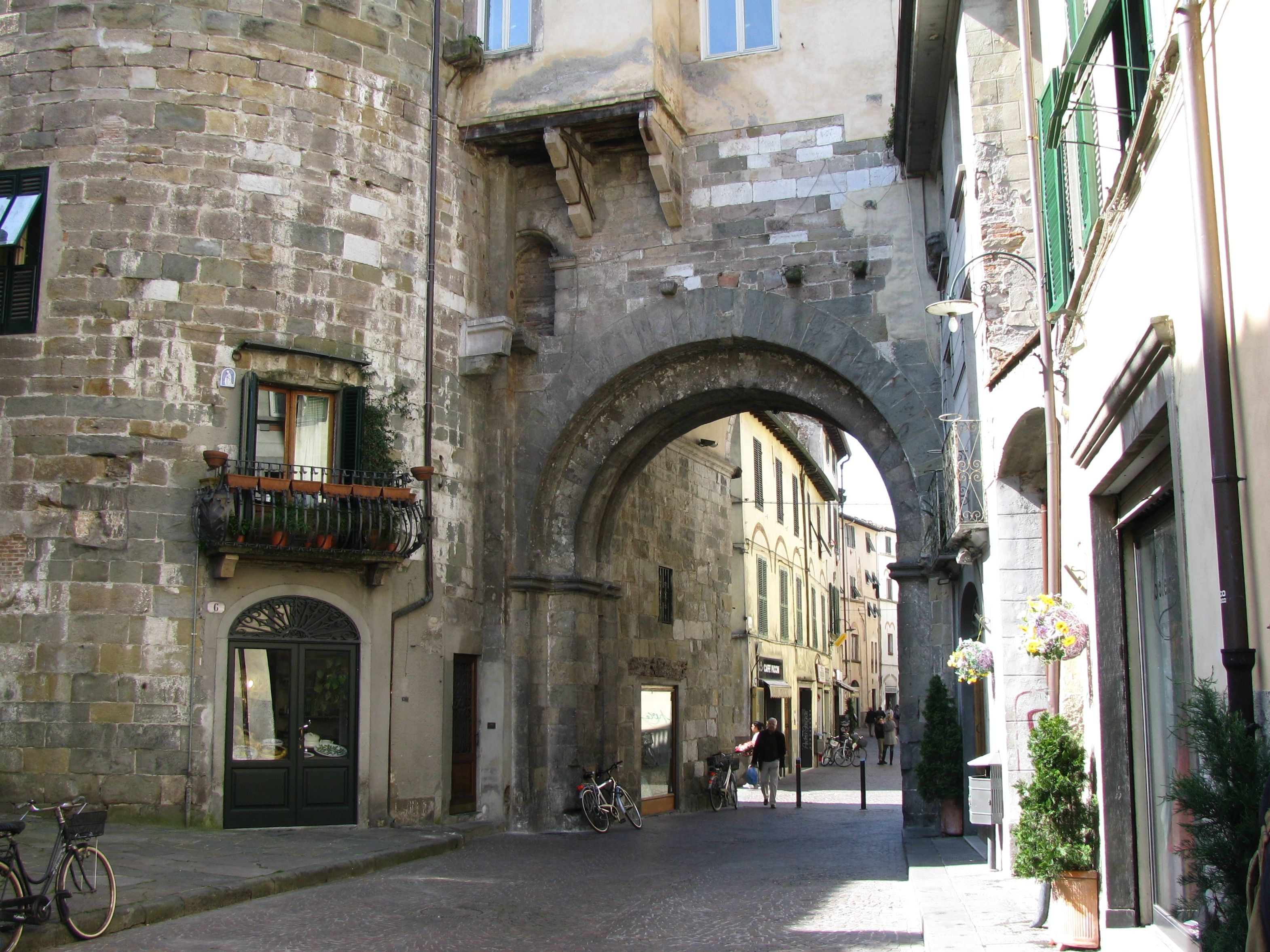 lucca tuscany italy a beautiful medieval walled city on walled id=38173