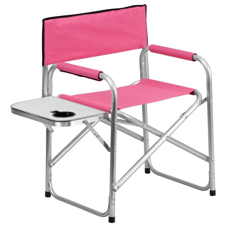 Aluminum Pink Camping Chair