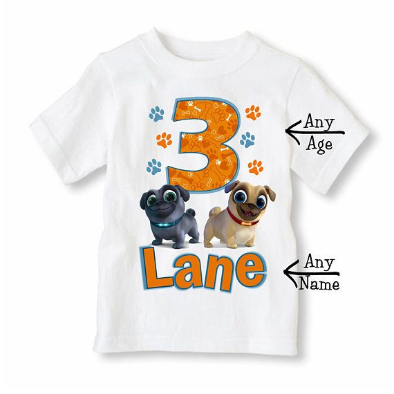 Puppy Dog Pals Shirt Personalized With Name And Age Puppy Puppy
