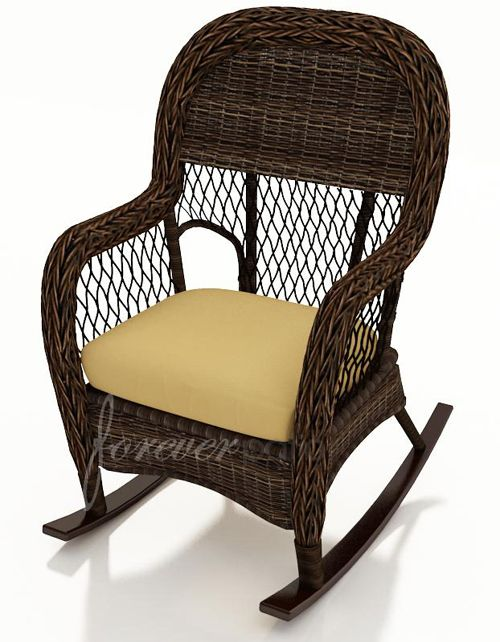 Leona Rocking Chair Wicker Rocker Outdoor Chairs Furniture