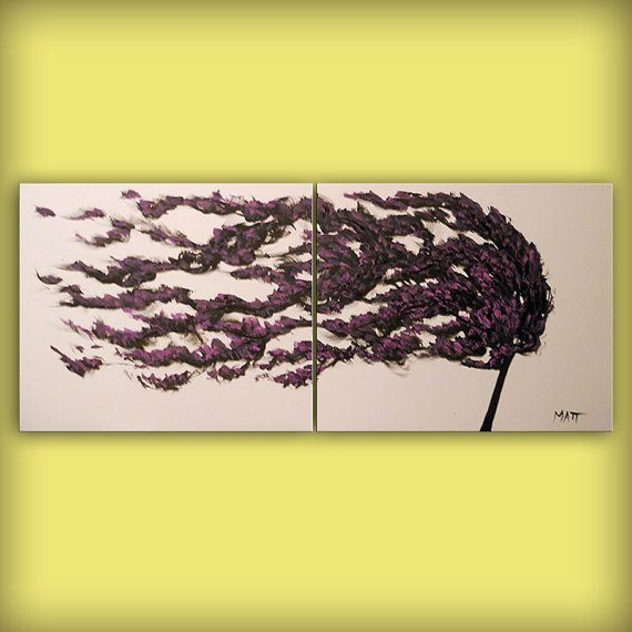 abstract art painting wind tree blowing art abstract by mattsart ...