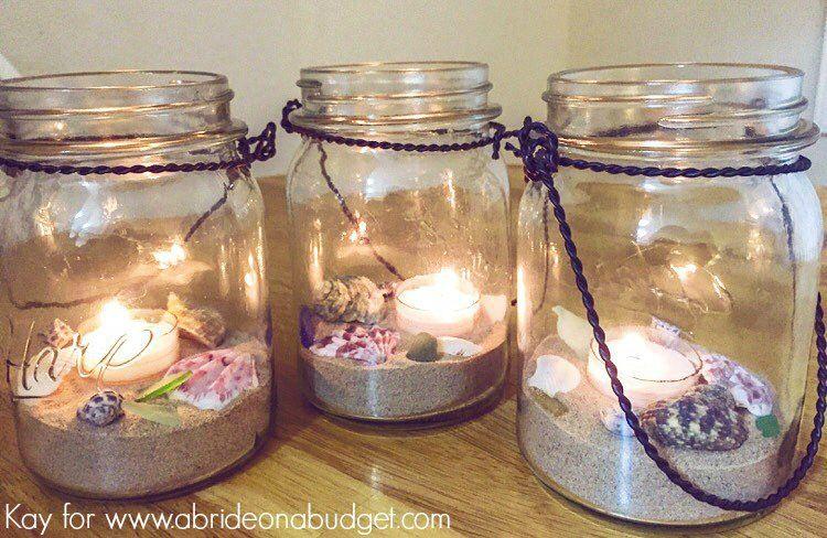Beach Wedding Mason Jar Centerpieces Wedding Centerpieces Mason
