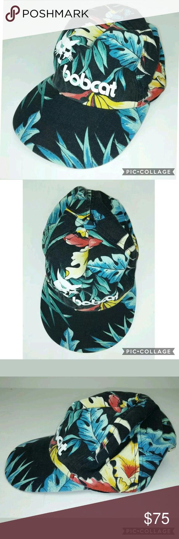 Bobcat Snapback Vintage Tropical Jungle Hat Hats Vintage Vintage Jungle Hat