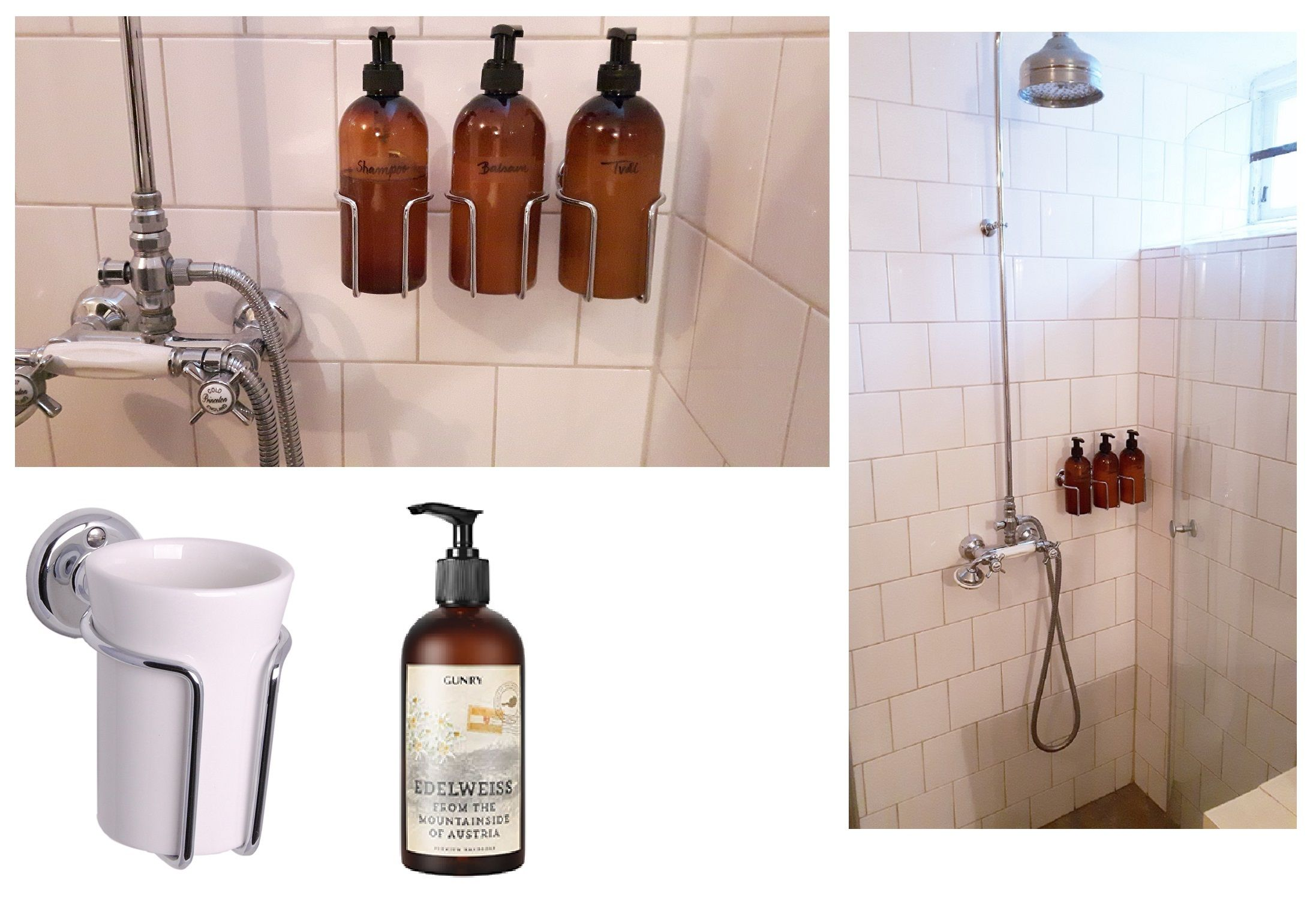 Soap And Shampoo Dispensers For Showers No More Bottles On The Floor In The Shower Wall Mounted