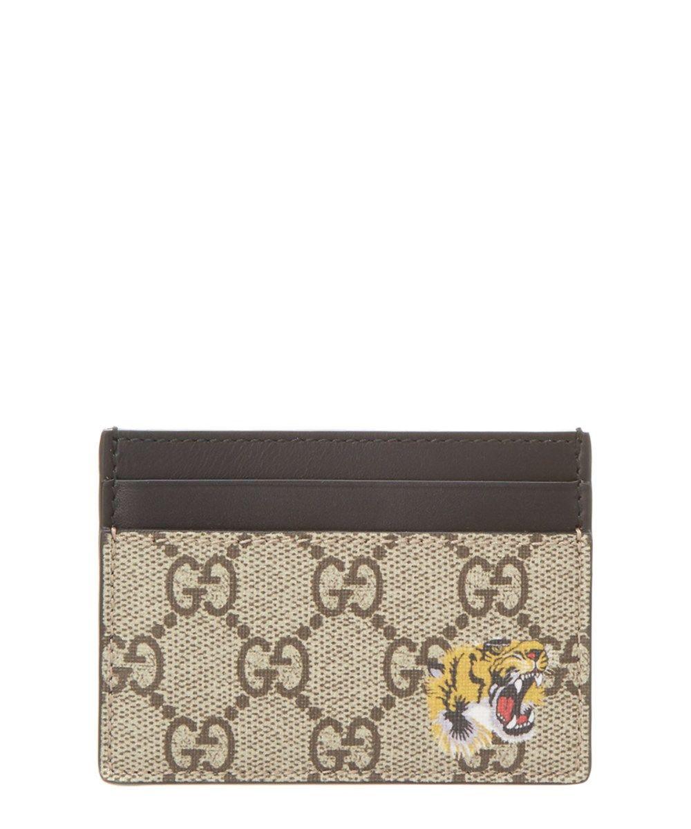 94e2a84525a GUCCI Gucci Tiger Print Gg Supreme Card Case .  gucci  wallets ...
