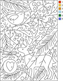 Nicole's Free Coloring Pages: CHRISTMAS * Color by Number