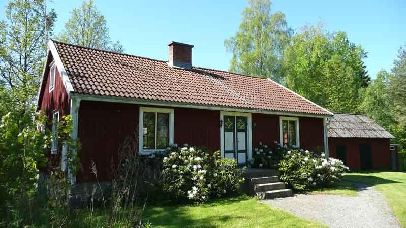 Skillingsmåla. Ein modernes Smålandshäuschen. Urshult, Tingsryd Kommun, Smaland, Schweden
