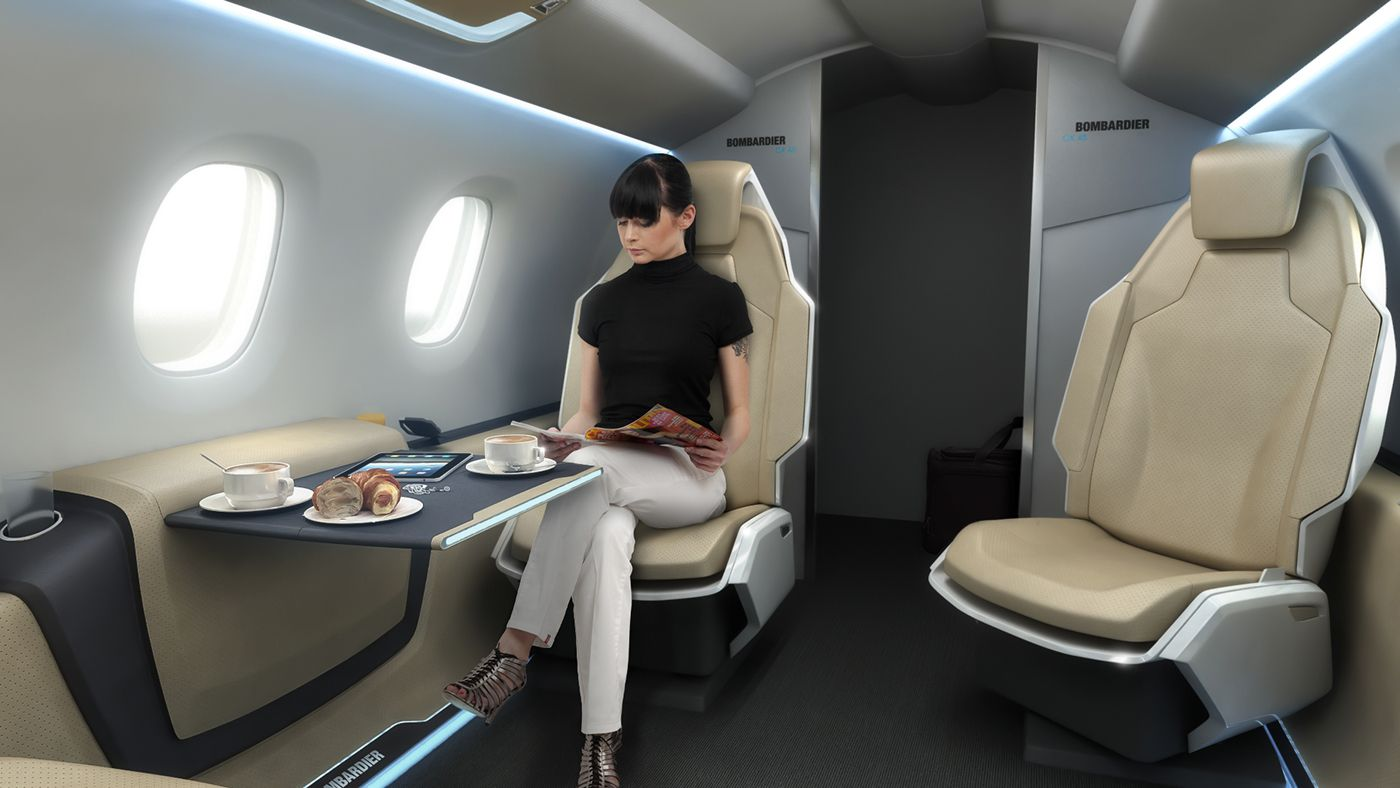 Bussines Jet Cabin Concept On Behance Aircraft Interior
