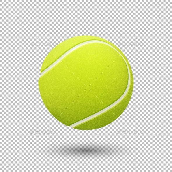 Vector Realistic Tennis Ball Tennis Ball Tennis Ball