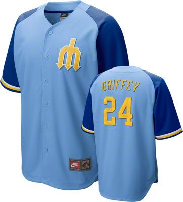 Ken Griffey Jr. Seattle Mariners Blue Nike Cooperstown Quick Pick Player  Jersey e77f5666ad57