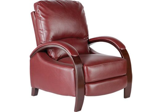 Fantastic Armando Red Blended Leather Recliner Leather Recliner Theyellowbook Wood Chair Design Ideas Theyellowbookinfo