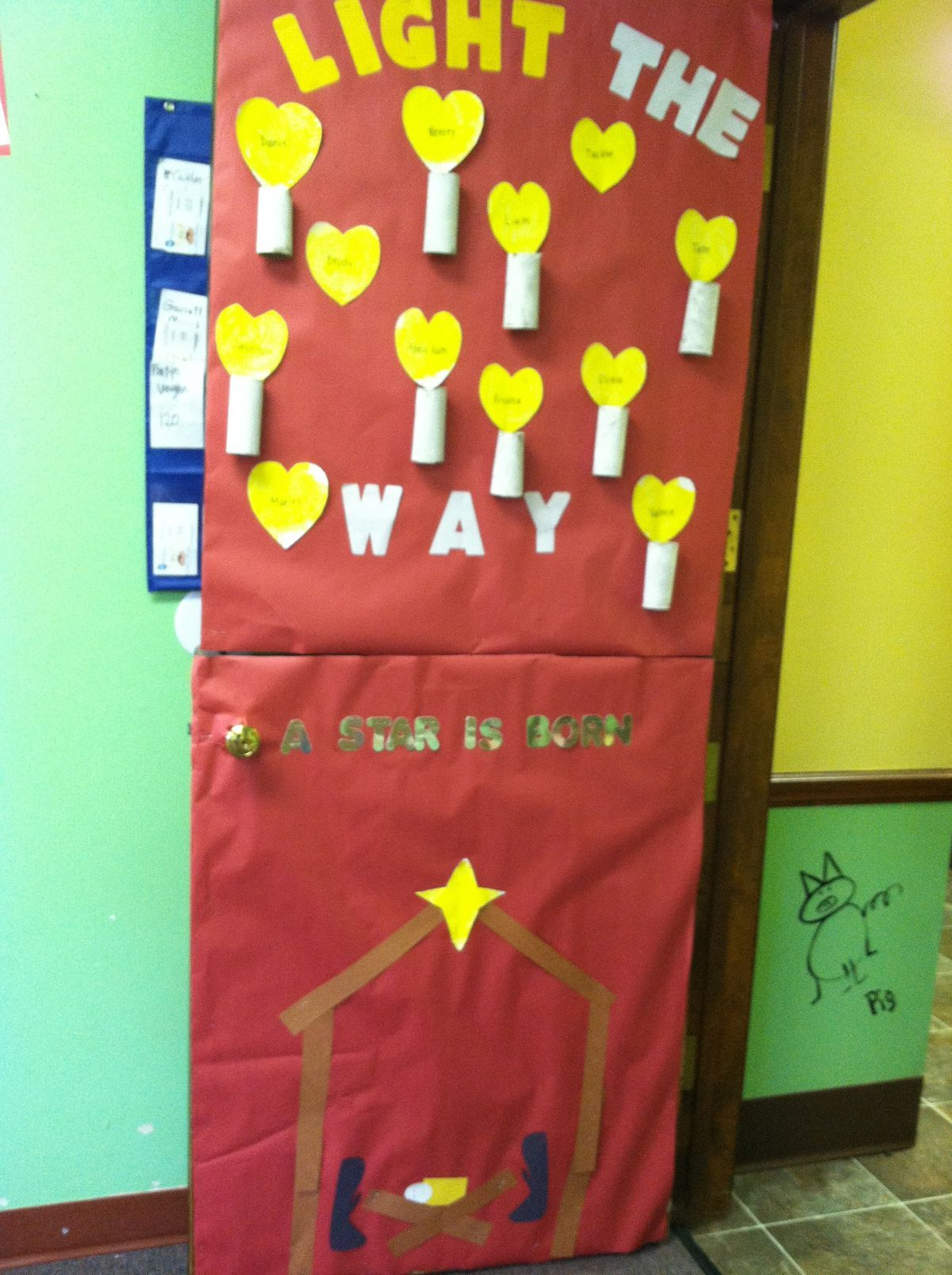Pre K Classroom Door Decoration Light The Way For A Star