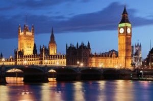 The London Parliament at Dusk