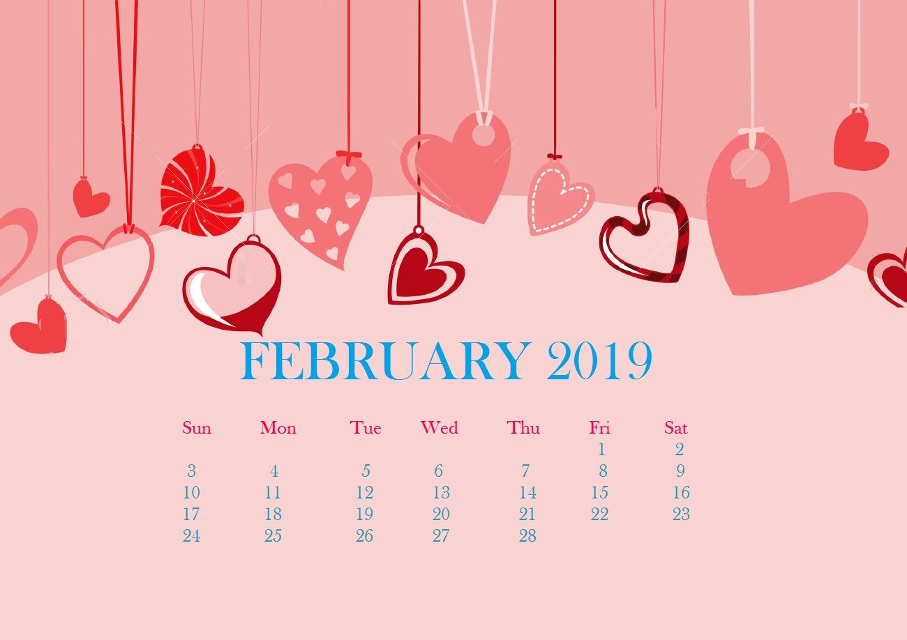 Valentines Day 2019 Wallpaper Free printable calendar