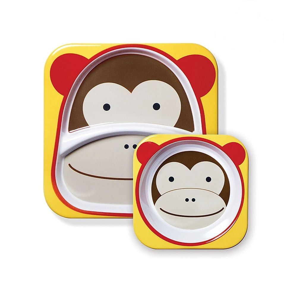 Kids Dish Set Monkey PLATE Kids Tableware Set Melamine Plate Kids Dinnerware Set Monkey Dishes Childrens Tableware Baby Plate Bowl Set