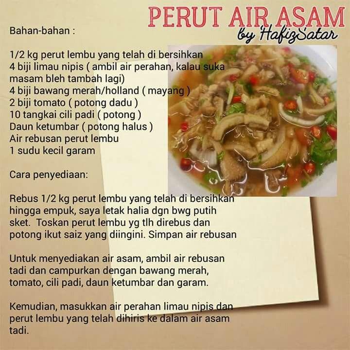 Resepi Perut Lembu Azie Kitchen Resepi Merory Sedap Betul