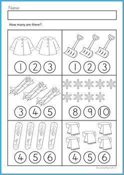 Math Worksheets Activities Winter Beginning Skills Ogretim Matematik Okuma