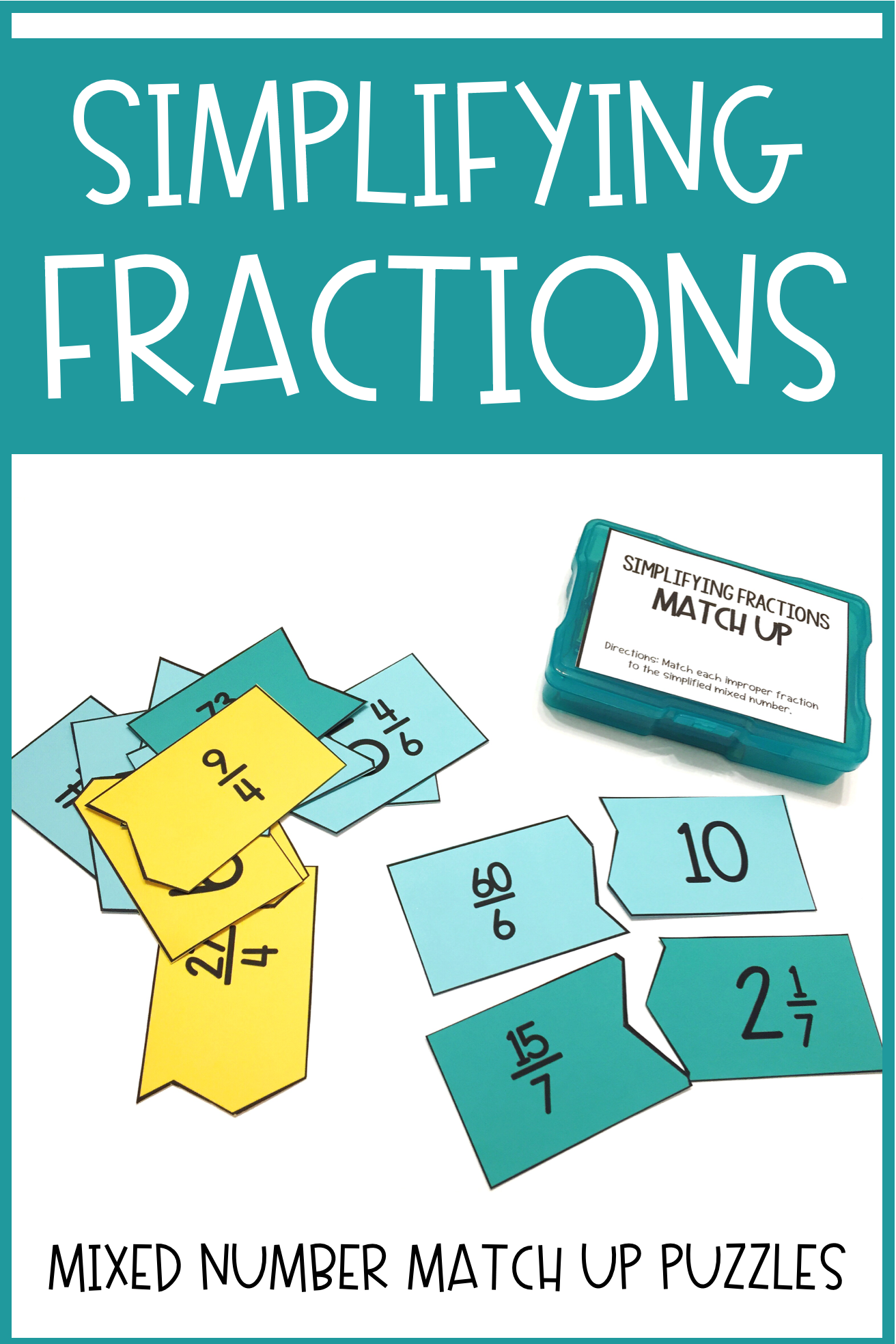Simplifying Fractions Match Up
