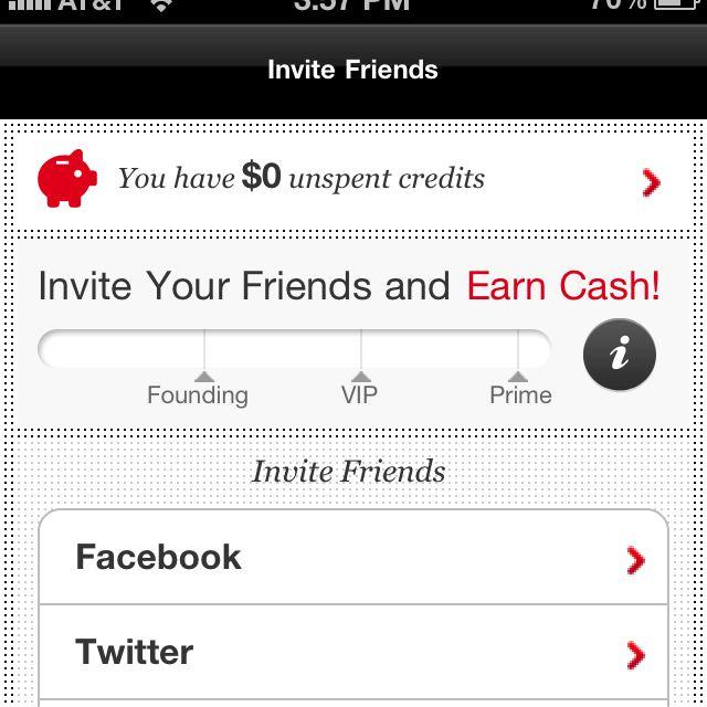 Fab iPhone app Iphone apps, Invitations, Invite friends