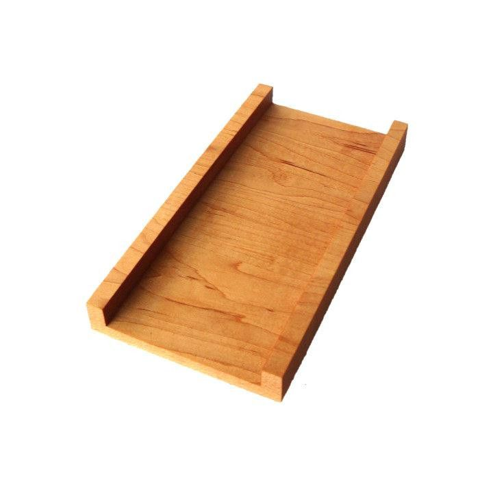 Wooden Channel serving board medium size ($35) from Kutsko Kitchen with raised sides for snacks.