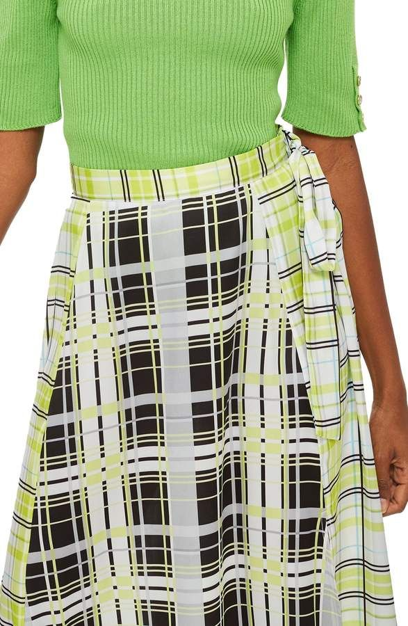 49780f1d7 Topshop Obsession Mixed Check Print Midi Skirt   Products   Skirts ...