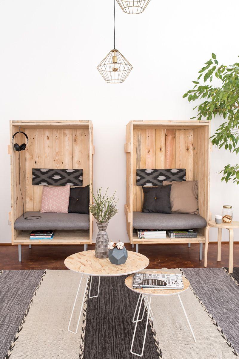 Innovativ Gemütliche Sitzecke im Büro mit DIY upcycling Strandkörben aus  AP82