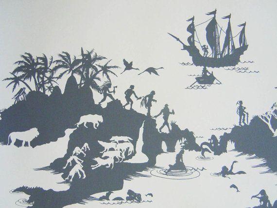 Boys Nursery Inspiration   Peter Pan Wallpaper By EmmaMolony On Etsy, £65.00