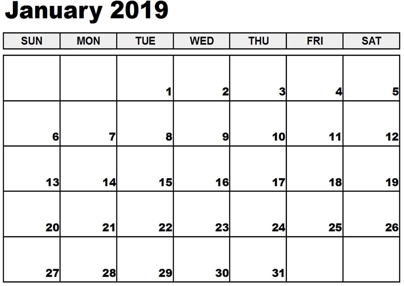 Calendar 2019 January Pdf January Calendar 2019 Word #january2019 #January