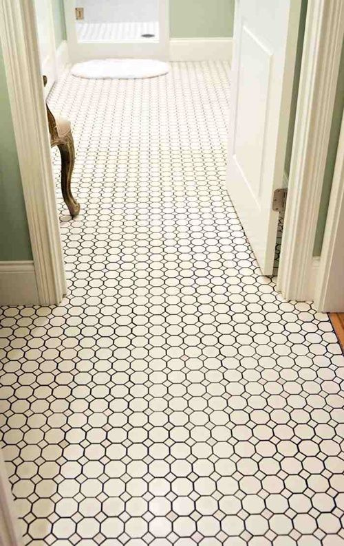 Small Bathroom Hex Tile