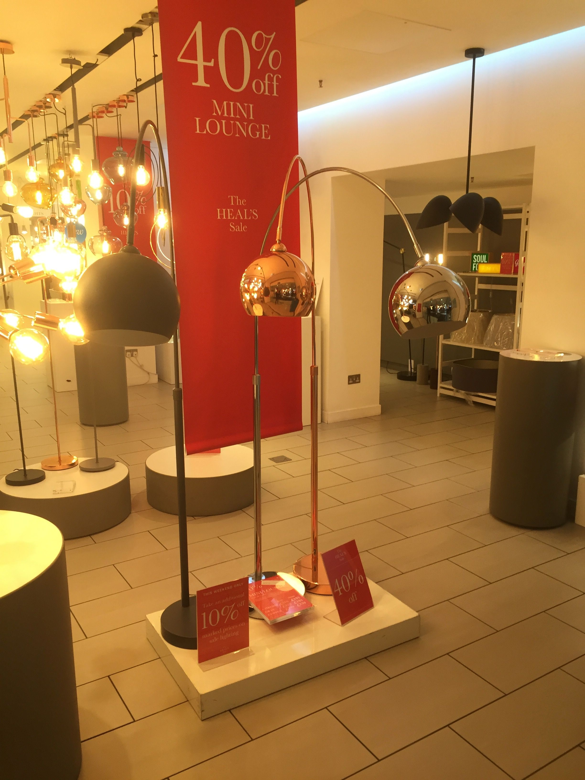 Floor lamps copper or chrome source heals tottenham court road floor lamps copper or chrome source heals tottenham court road london price aloadofball Gallery