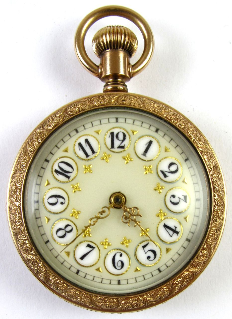 7e95d345e 10k Gold Addison Enameled Dial Pocket Watch in 2019 | Timely Places ...