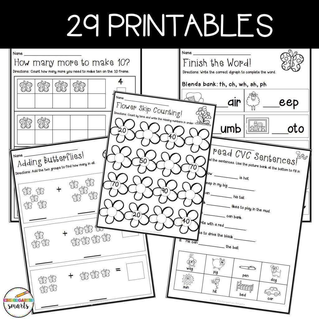 Spring Math And Literacy Centers Plus A Freebie Kindergarten Smarts Spring Math Literacy Centers Learning Math [ 1024 x 1024 Pixel ]
